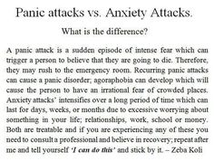 panic attacks vs anxiety attacks