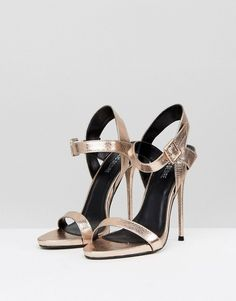 4ce4f018d1d3 Public Desire Mercy Gold Barely There Heeled Sandals