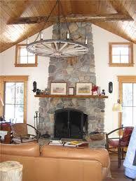 Love cobble stone fire places!