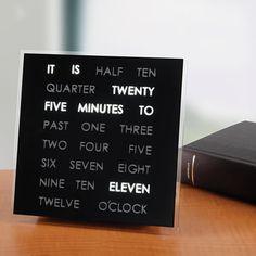 The Reading Time Clock - Hammacher Schlemmer #HammacherHolidays