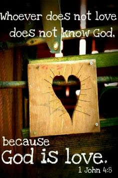 Whoever does not love does not know God, because God is love. [ 1 John NIV ] And so we know and rely on the love God has for us. God is love. Whoever lives in love lives in God, and God in them. Favorite Bible Verses, Bible Verses Quotes, Bible Scriptures, Favorite Quotes, Quotes Quotes, Godly Quotes, Hope Quotes, Biblical Quotes, Scripture Verses