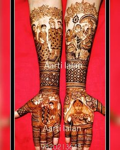 ~Mehendi design idea: Add your love story to your henna to give it a more personal touch!