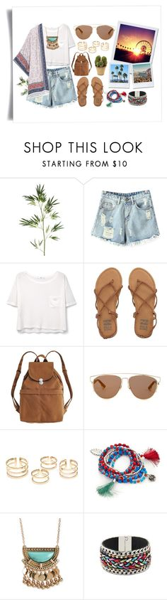 """Coachella Summer"" by kisskatabogi ❤ liked on Polyvore featuring Pier 1 Imports, Chicnova Fashion, MANGO, Billabong, BAGGU, Christian Dior, H&M, Red Camel, Aéropostale and Nearly Natural"