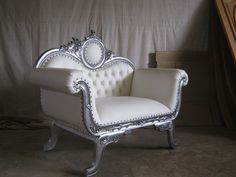"""In Stock...No Waiting.....Limited Quanity """"Oleta"""" Wedding Settee Baroque French Reproduction Mahogany Louis XVI Style Settee. Can be made in different fabric and wood colors Please allow Approximately                                                                                                                                                      More"""