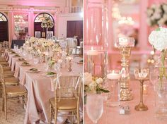 "The table display available at The Grand Marquise Ballroom will give your wedding a chic, dainty and elegant feel.  Located in Garner, NC, this space is ""Where Romance Meets Elegance."""