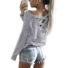 Aproms White Pink Black Solid Color Women's Long Sleeve Top New 2017 Loose Shirts Blouses Casual Backless Tee Shirt femme 40600