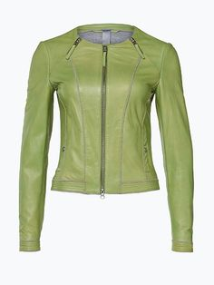 Milestone Damen Lederjacke - Noelle - Sportive Lederjacke im Biker-Stil.