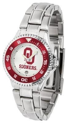 Oklahoma Sooners OU NCAA Womens Competitor Steel Band Watch by SunTime. $76.95. Officially Licensed Oklahoma Sooners Ladies Stainless Steel Watch. Women. Rotating Bezel. Links Make Watch Adjustable. Stainless Steel. Showcase the hottest design in watches today! The functional rotating bezel is color-coordinated to compliment your favorite team logo. The Competitor Steel utilizes an attractive and secure stainless steel band.