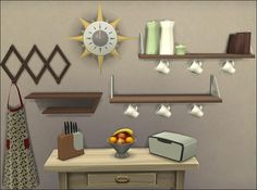 The Sims 4   Purzel's Sims MidCMod Kitchen Clutter   buy mode new objects deco 3t4 conversion