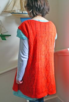 Lace tunic.This would be beautiful in a muted/natural color-not liking the orange.
