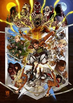 Attack on Titan/Shingeki no Kyojin and I love how Sasha and jean are the only ones who look happy! Fanarts Anime, Manga Anime, Anime Art, Super Anime, Attack On Titan Art, Popular Anime, Illustrations, Anime Shows, Sword Art Online