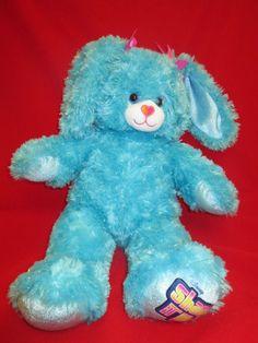 103e9e77f2b Build a Bear Disney Shake It Up Teal Blue Sparkle Bunny Rabbit Plush 17