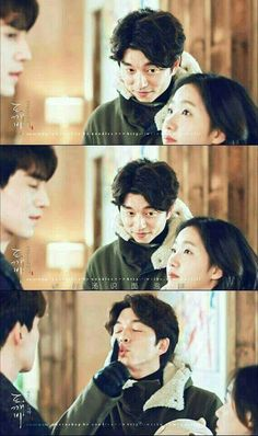 Gong yoo lee dong wook kim go eun goblin drama 😄❤❤ Kim Go Eun Goblin, Goblin Gong Yoo, Goblin The Lonely And Great God, K Pop, Goblin Korean Drama, Goong Yoo, Shu Qi, Korean Drama Quotes, Yoo Gong