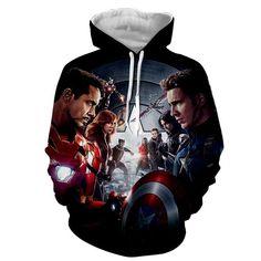 Avengers Civil Wars 3D Printed Hoodie
