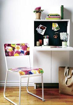 silla decorada con decoupage