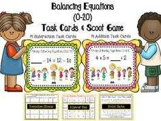 BALANCING EQUATIONS (0-20) TASK CARDS & SCOOT GAME