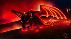 Night Fury inside the volcano Mount Abyss on the Isle of Night Mystical Animals, Mythical Creatures Art, Magical Creatures, Fantasy Creatures, Cute Dragon Drawing, Dragon Sketch, Httyd Dragons, Cool Dragons, Night Fury Dragon