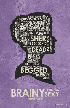 Irene Adler ~ Sherlock ~ TV Series Quotes Poster by Stephen Poon Jim Moriarty, Sherlock Bbc, Sherlock Holmes Serie, Sherlock Irene Adler, Quotes Sherlock, Sherlock Poster, Sherlock Fandom, Watson Sherlock, Funny Sherlock