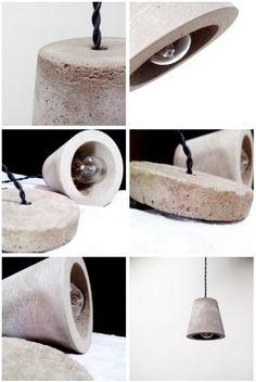 Lampara de Cemento Concreto
