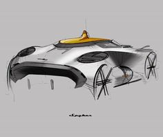 Auto Design, Automotive Design, Industrial Design Sketch, Car Design Sketch, Pen Sketch, Cool Sketches, Transportation Design, Concept Cars, Foto E Video