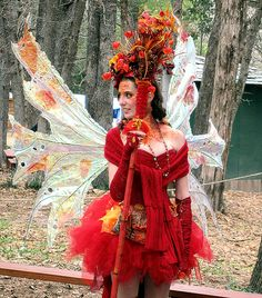 Red autumn fairy costume for the Ren Fest