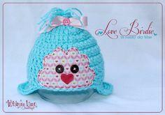 Newborn Love Bird Hat - Valentine Hat - Photography Prop. $28.00, via Etsy.