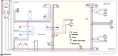 Картинки по запросу схема монтажа проводки в 2-комнатной квартире