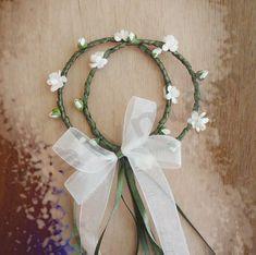 Μπομπονιέρα διπλό στεφάνι! Wedding Favors, Wedding Decorations, Gift Wrapping, Wreaths, Weddings, Gifts, Beautiful, Home Decor, Wedding Keepsakes