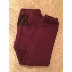 VS PINK joggers/ sweats Worn once. Excellent condition NO TRADES PLS DONT ASK!! PINK Victoria's Secret Pants Track Pants & Joggers
