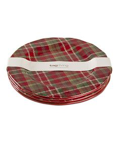 Loving this Plaid Dinner Plate - Set of Four on #zulily! #zulilyfinds