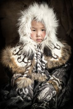 Interview: Rare Portraits Immortalize Siberia's Indigenous People in Danger of Extinction © The World In Faces, 'Even little girl', by Alexander Khimushin - Report by Jessica Stewart on February Uploaded from We Are The World, People Around The World, Cherokees, Jessica Stewart, Jimmy Nelson, Siberia, Sea Of Japan, Portraits, World Cultures