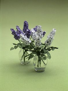 Lilac Paper Flower Kit for 1/12th scale by TheMiniatureGarden - Kit