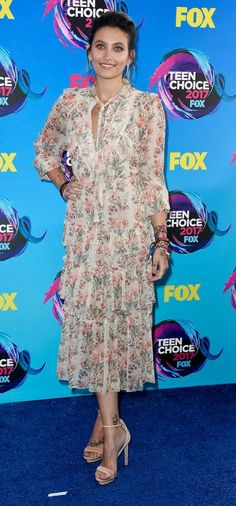 Paris Jackson in Zimmerman attends the Teen Choice Awards 2017. #bestdressed