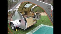 If you love compact travelling, a teardrop trailer camper is the one for you. With these free teardrop trailer camper plans, you can build an exciting one on the budget! Small Camper Trailers, Small Trailer, Small Campers, Rv Campers, Camper Van, Travel Trailers, Airstream Trailers, Camping Trailers, Home Made Camper Trailer