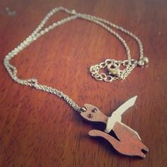 I just added this to my closet on Poshmark: Wooden cat pendant necklace! Super cute.. Price: $3 Size: OS