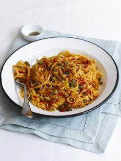 Tomato & caper linguine   Jamie Oliver