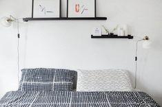 decoración dormitorio con baldas cuadro