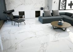Grespania's CALACATA Porcelain Tiles Collection strikes with a traditional, elegant appearance in two different lines, Calacata and Palace Calacata. These models are available in different formats and finishing, and they can easily be combined with a wide variety of the Grespania range of mosaics to obtain a very modern look.