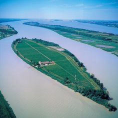 Margaux Island, near Bordeaux, France - Photo from helicopter