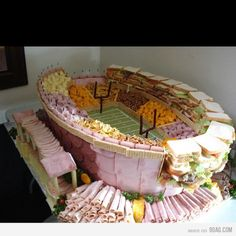 Now THAT is how you set up food for a Super Bowl party!
