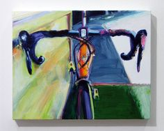 Bicycle Series BY14044    Oil on Canvas    11 x 14 inches    I decided to make paintings of bicycles this year. To create these new paintings,
