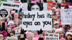This image by photographer Kevin Mazur is one of the most stunning photos to emerge from the Women's March on Washington. Mark Hamill had this to say about his space sister's image being used…