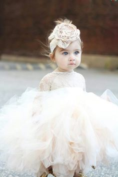 Yesbabyonline offers lovely flower girl dresses & baby flower girl dresses in all styles and colors. Visit and shop you desired Angelic Jewel Long Sleeves Ball Gown Lace Flower Girl Dresses Cute Flower Girl Dresses, Tulle Flower Girl, Flower Girl Headbands, Tulle Flowers, Baby Flower, Princess Flower, Girls Pageant Dresses, Ball Dresses, Ball Gowns