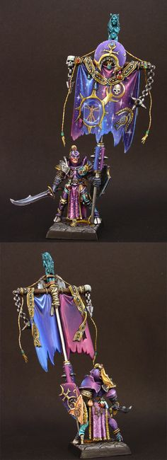 Slaanesh Standard painted by Blackmoor.ca, I haven't seen her work in a while. I think I met her in Calgary once.