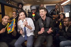 Robin Thicke, The Roots and Jimmy performing a Classroom Instruments version of 'Blurred Lines.'