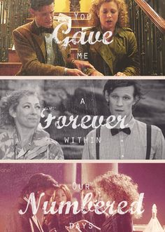 As bittersweet as this relationship is, they are forever my favorite pair. I just love River Song. River & her Doctor <3 {gif}