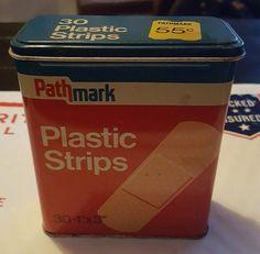 Pathmark vintage Bandaid tin 55 cents