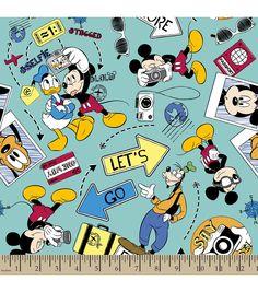 Disney Mickey Lets Go Explore Cotton Fabric