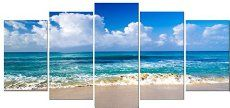 Pyradecor Seaside Modern Stretched and Framed Seascape 5 panels Giclee Canvas Prints Artwork Landscape Pictures Paintings on Canvas Wall Art for Home Decor * To view further for this item, visit the image link. (This is an affiliate link) Theme Pictures, Artwork Pictures, Print Pictures, Beach Pictures, Beach Canvas, Beach Wall Art, Canvas Wall Art, Painting Canvas, Beach Artwork