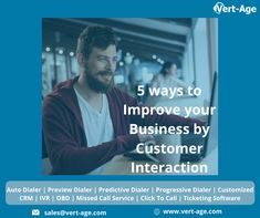 Check out these ways to improve your business by customer interaction. We will understand you the ways you improve your business and these are some points like Brand perception, Preparing mehods are improved, Maintenance of customer is improved, expanded business volumer and thinking of something new. In this blog you can understand about how to improve your business and how to communicate with your customer. Software Sales, Understanding Yourself, Perception, 5 Ways, Improve Yourself, Age, Business, Check, Blog